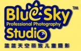 蓝蓝天空儿童摄影