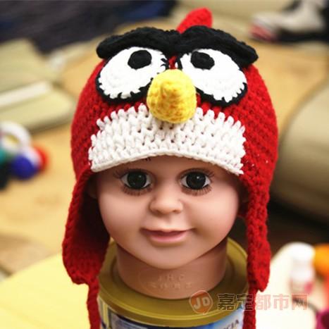 宝宝纯手工可爱编织帽